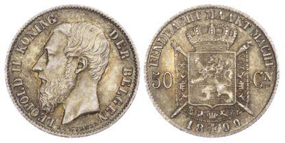 Belgium, Leopold II (1865-1910), silver 50 Centimes, 1899/86