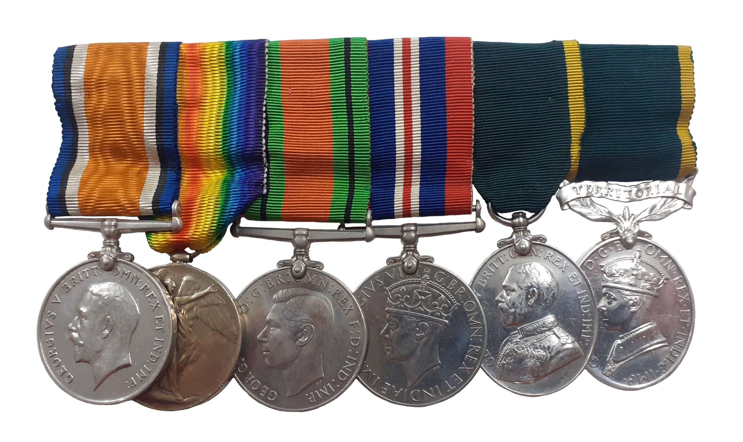 A Great War, WW2, Territorial, Double Long Service group of 6 to Private Charles Edward Batt