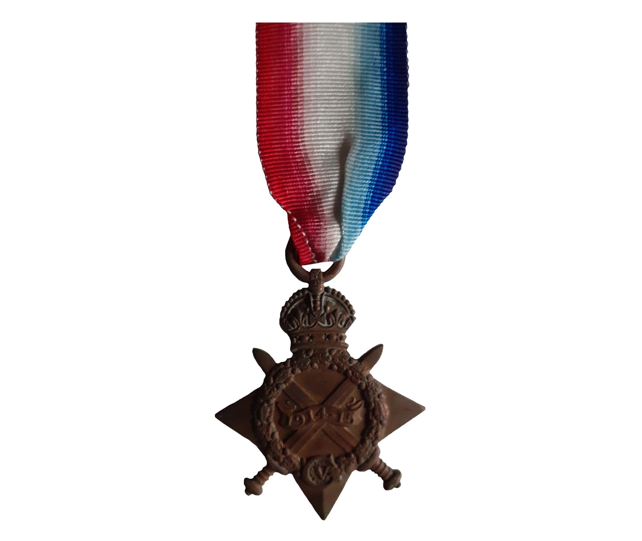 The 1914-15 Star awarded to Gunner Charles Ballard