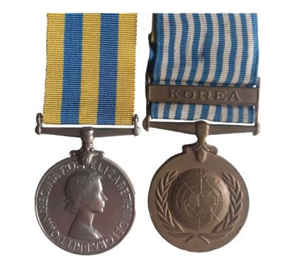 Korea Medal pair awarded to Fusilier L. Lock, Royal Fusiliers