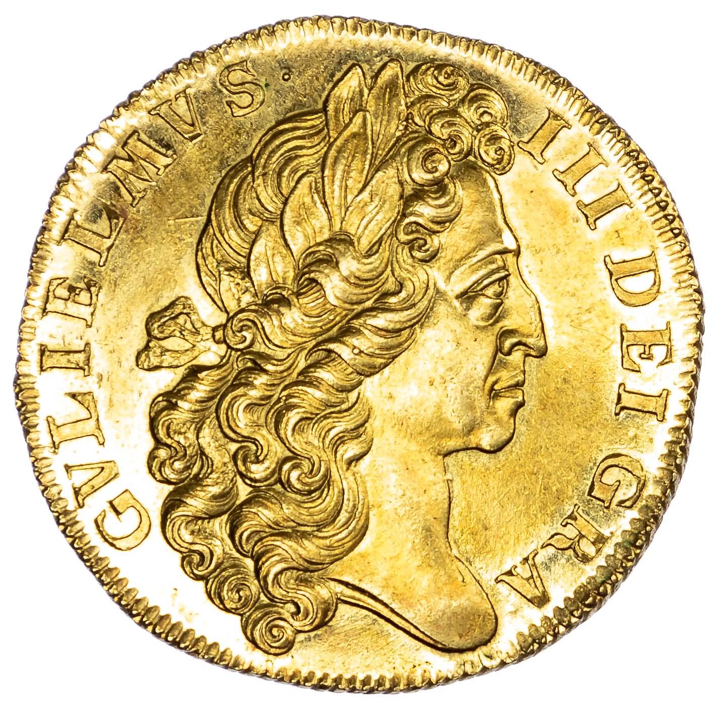 William III (1694-1702), 'Fine-Work' Two-Guineas, 1701