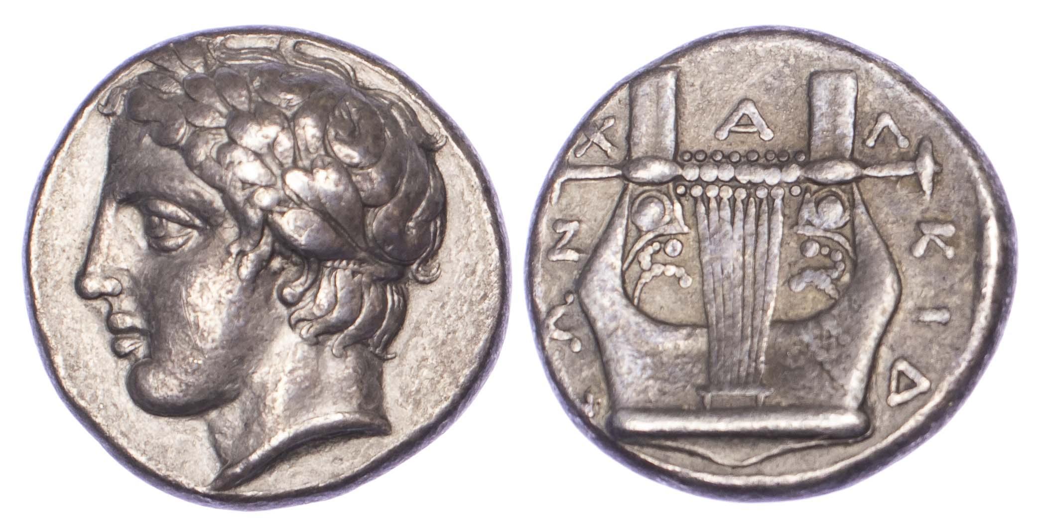 Macedon, Olynthos, Silver Tetradrachm