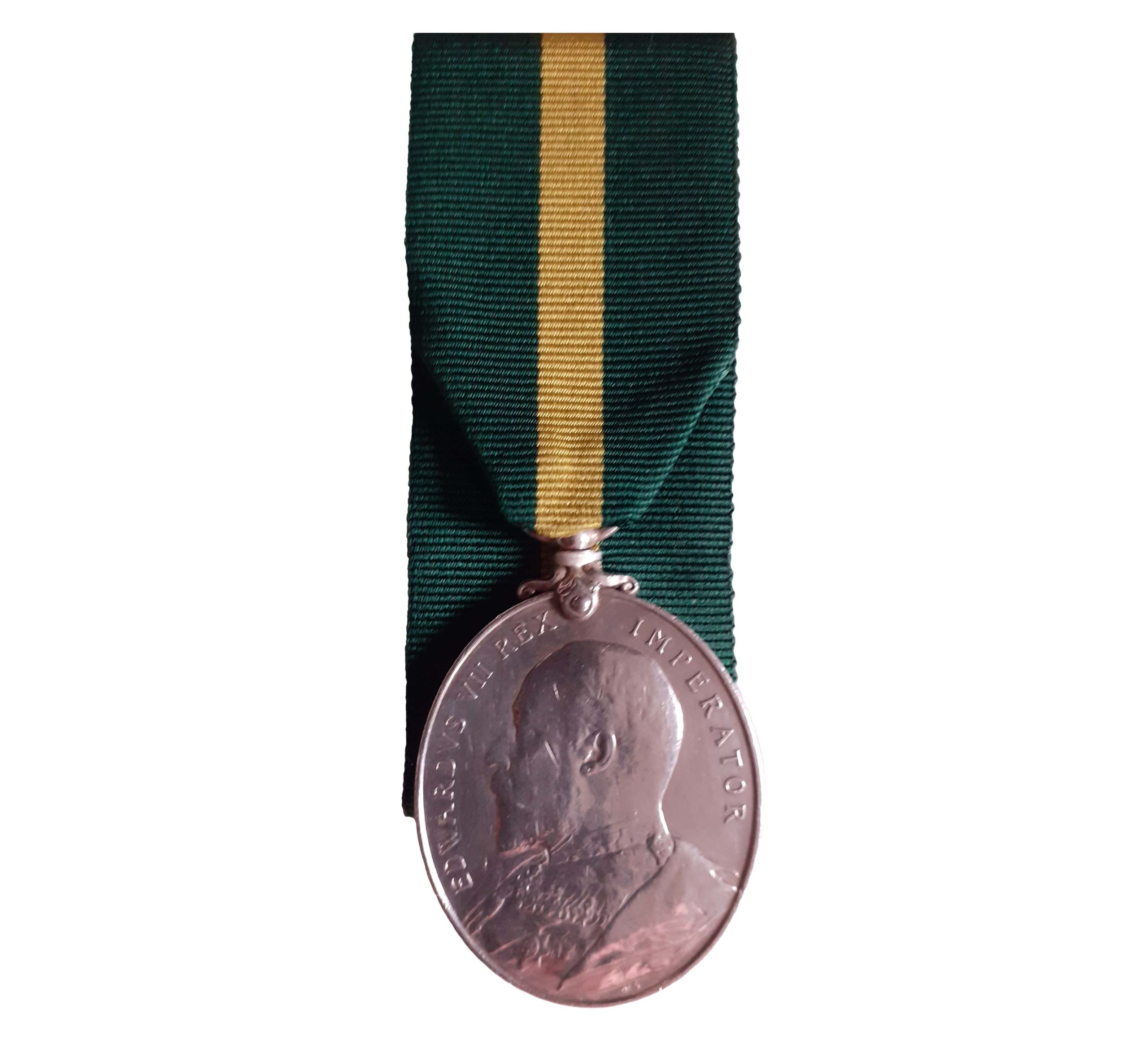 Territorial Force Efficiency Medal, EViiR, awarded to Serjeant J.T. Cosser