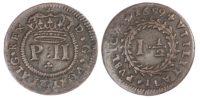 Portugal, Pedro II (1683-1706), copper Real e Meio