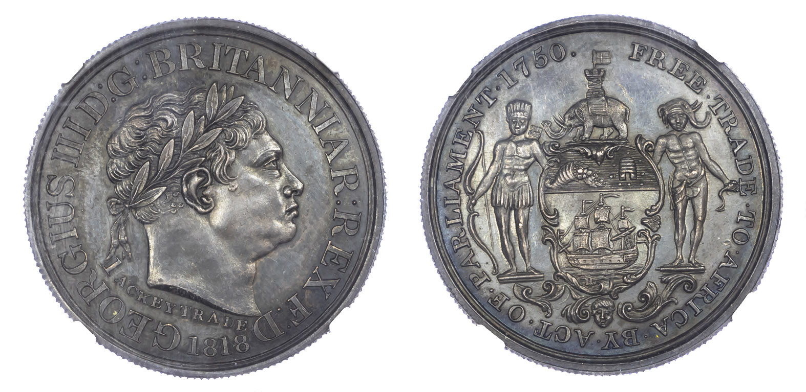 Gold Coast, George III, 1760-1820, AR Ackey, 1818