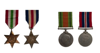 A complete set of the World War Two Campaign Stars and medals