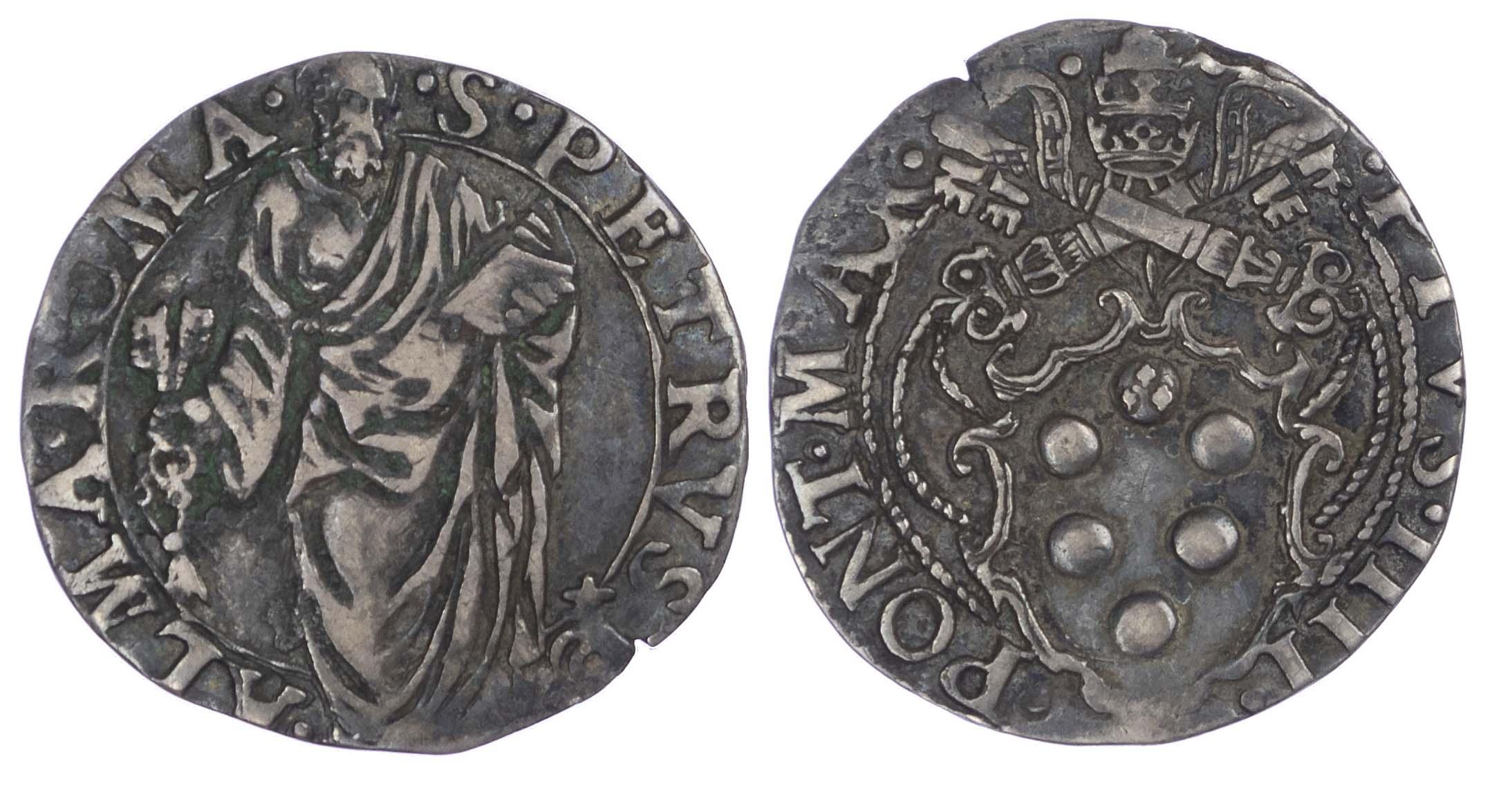 Italy, Papal States, Pio IV (1559-1565), silver Giulio
