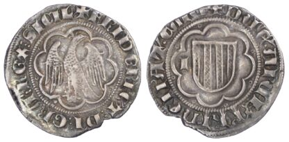 Italy, Sicily, Federico III d'Aragona (1296-1337), silver Pierreale, Messina