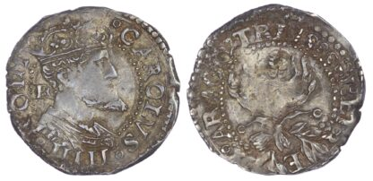 Italy, Naples, Charles V (1516-1556 AD), silver Carlino