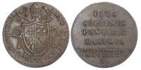 Italy, Papal States, Pius VII (1800-23), copper Quattrino, 1821-R