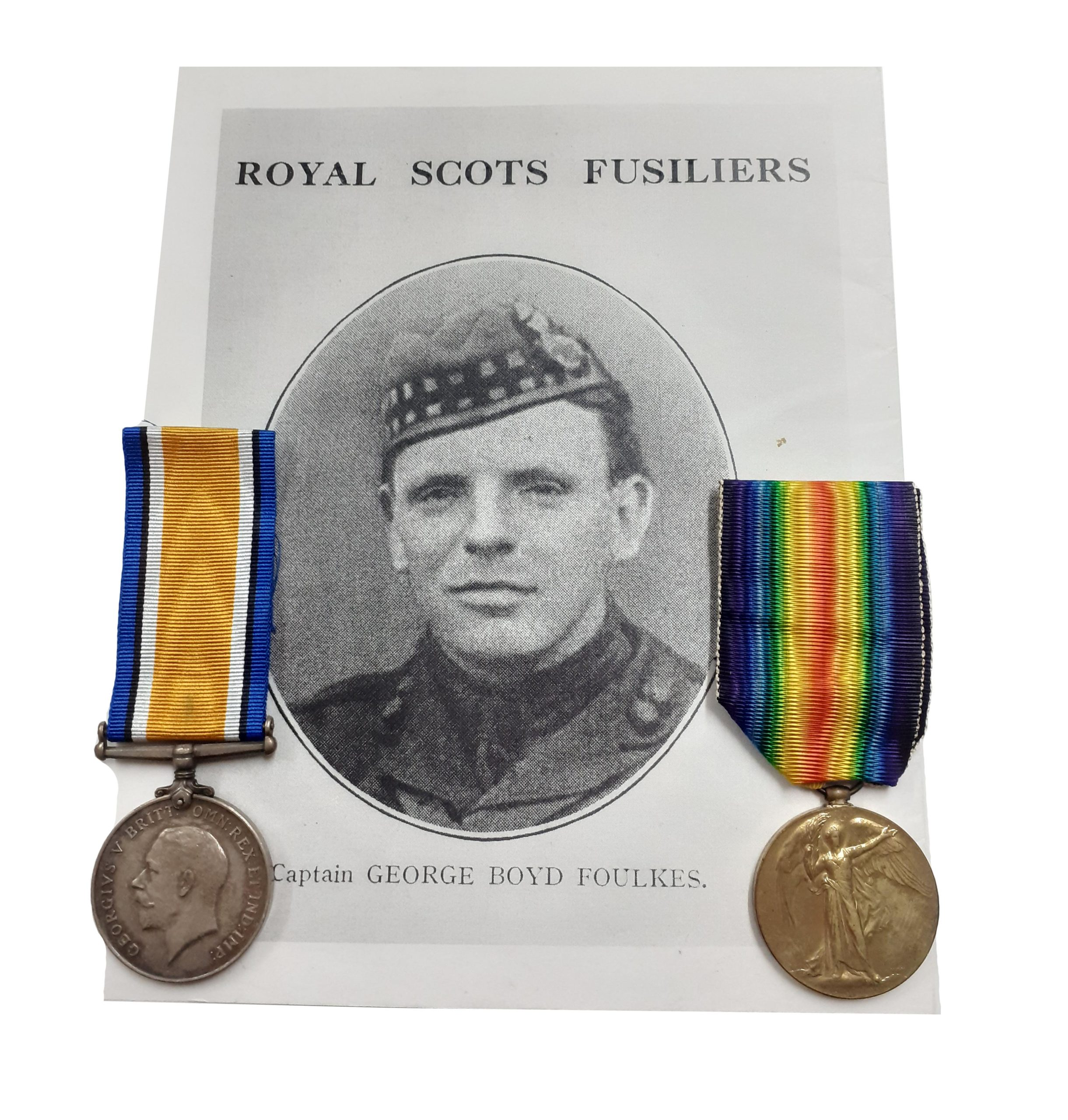 British War and Victory Medals to Captain E. B. Foulkes