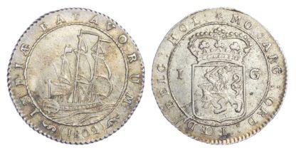 Netherlands, Dutch East Indies, Batavian Republic, silver Gulden, 1802