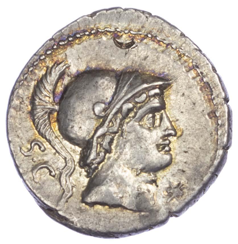 Roman Republic, L. Rustius, Silver Denarius
