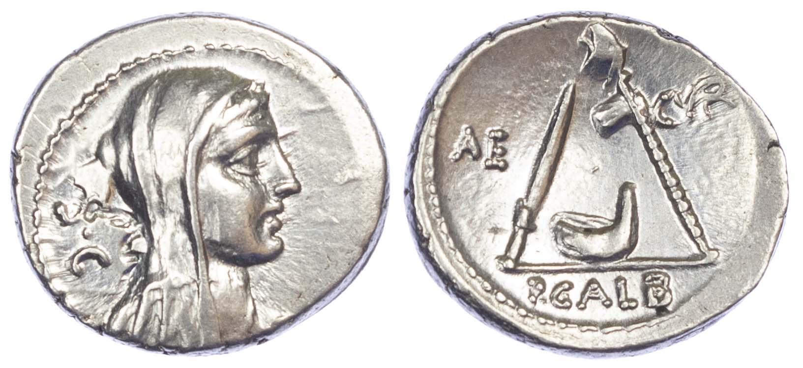 Roman Republic, P. Sulpicius Galba, Silver Denarius