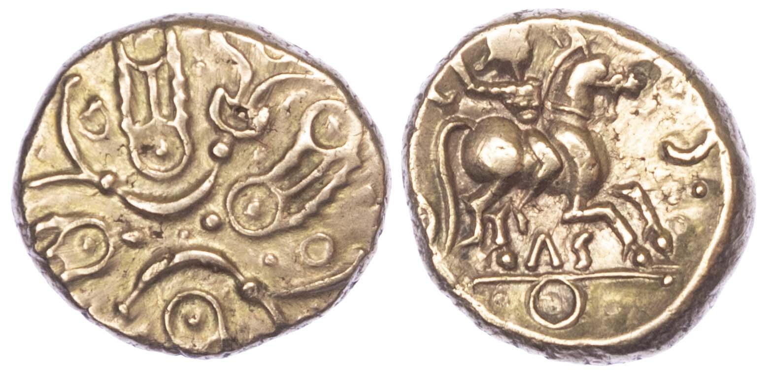 Trinovantes and Catuvellauni, Tasciovanus (c. 25-10 BC) AV Stater