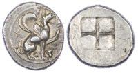 Ionia, Teos (c. 450-425 BC) AR Stater