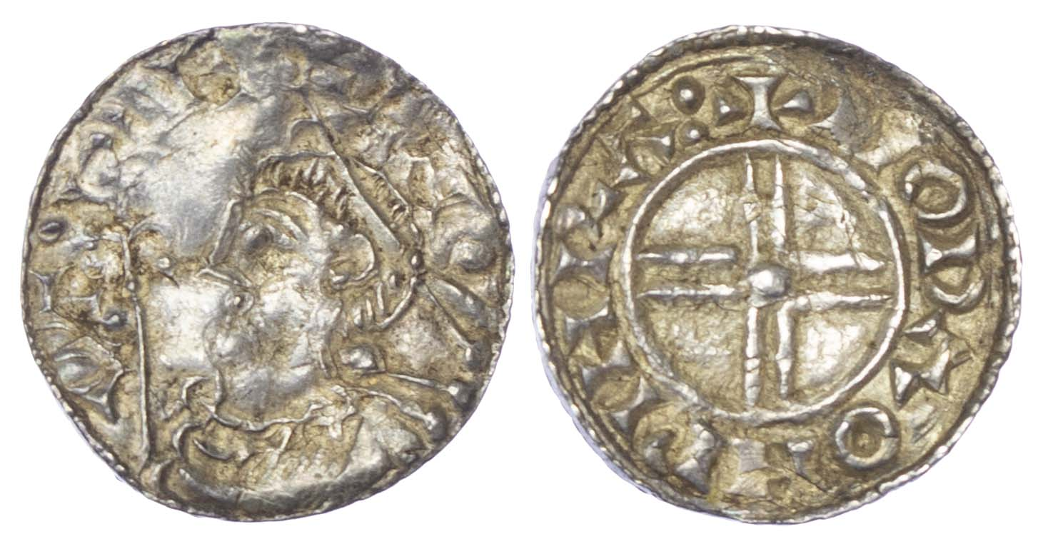 Canute (1016-35), Penny, Short cross type, Worcester Mint