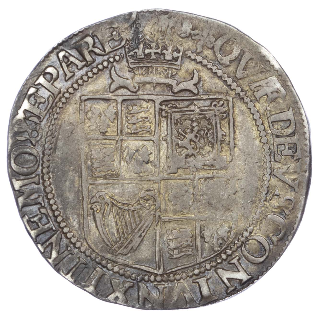 James I (1603-25), Shilling, third coinage, mintmark trefoil