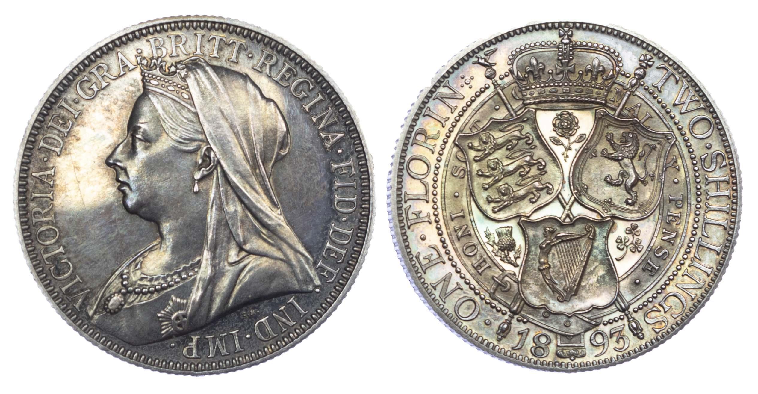 Victoria (1837-1901), Proof Florin, 1893