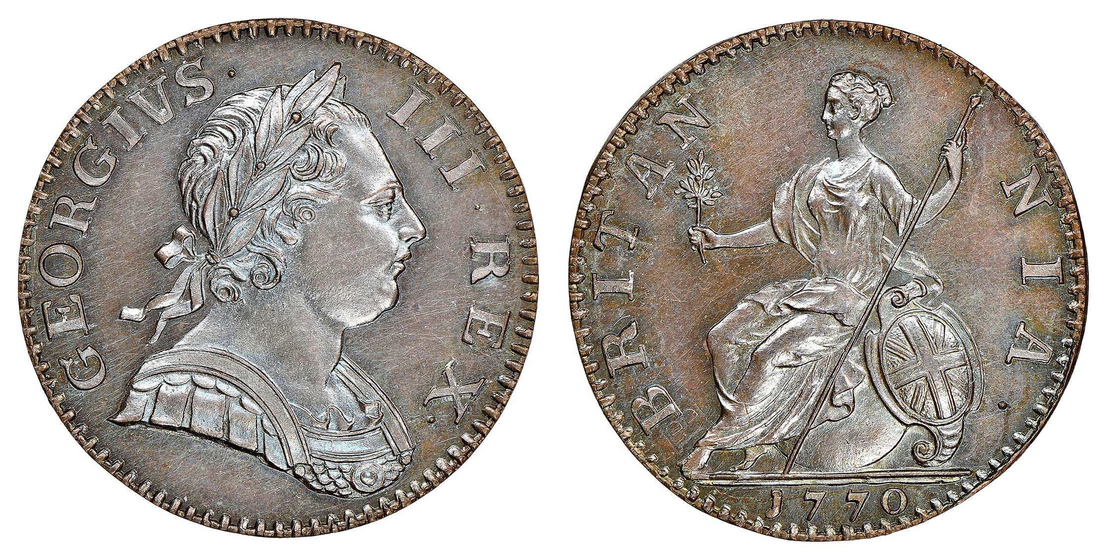 George III (1760-1820). Proof Halfpenny, 1770, PF 64