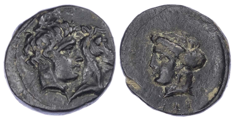 Thessaly, Gyrton, Bronze Dichalkon