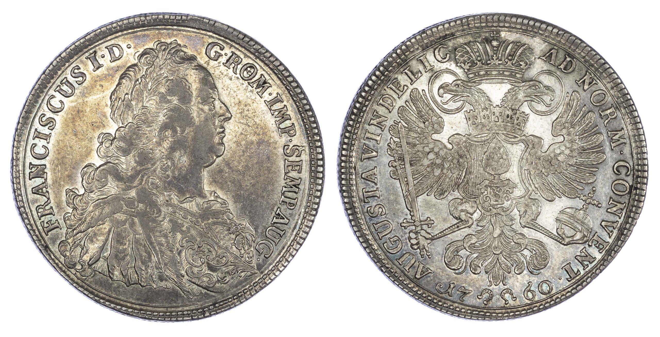 Germany, Augsburg, Franz Stefan I (1745-65 AD), silver Taler, 1760