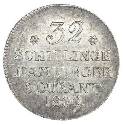 Germany, Hamburg, silver 32 Schilling, 1809