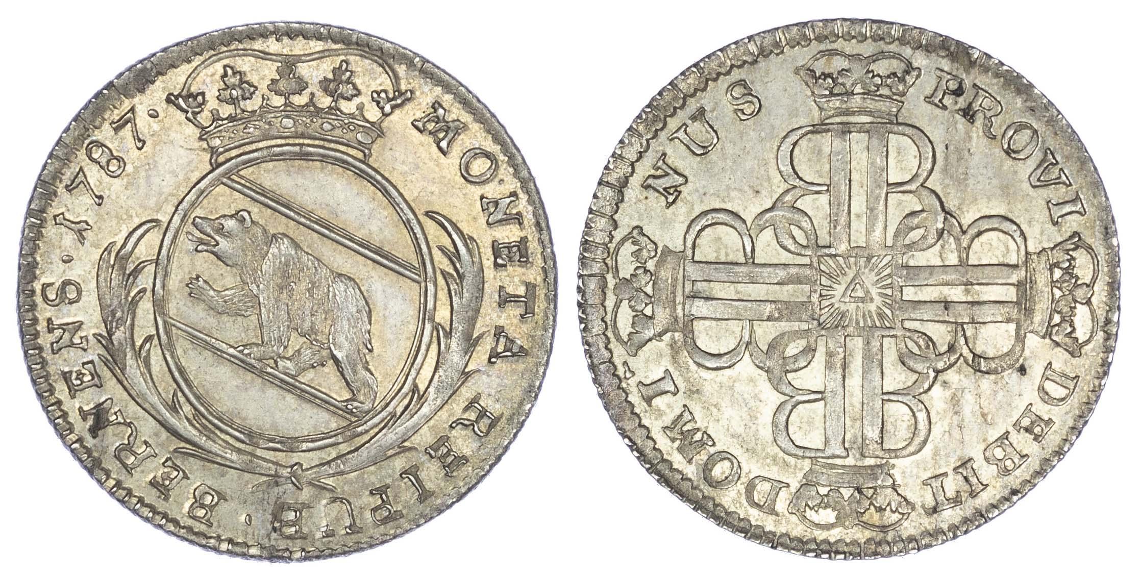 Switzerland, Bern, silver 20 Kreuzer, 1787