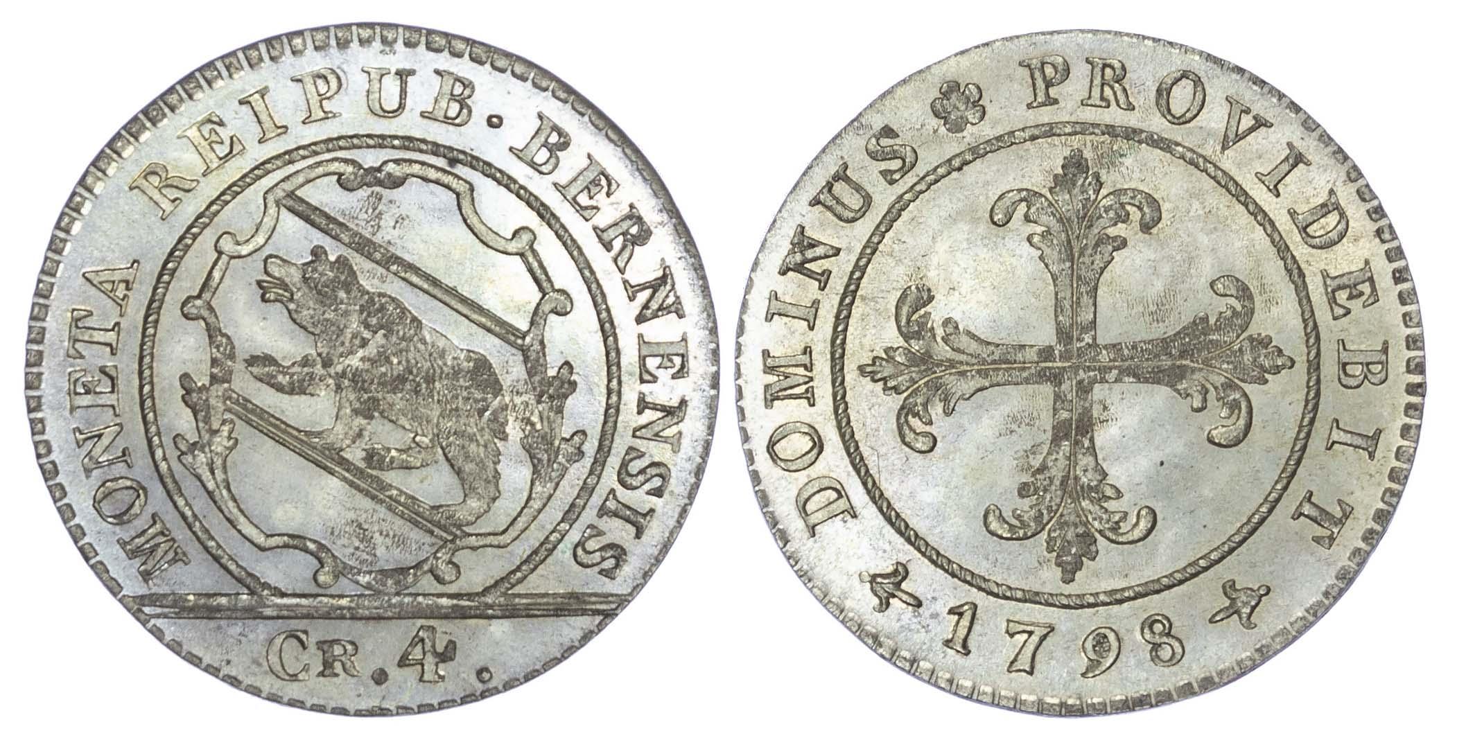 Switzerland, Bern, silver 4 Kreuzer (1 Batzen), 1798