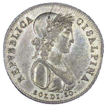 Italy, Cisalpine Republic (1797-1802), silver 30 Soldi, 1800
