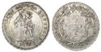 Switzerland, Helvetian Republic (1798-1803 AD), silver 10 Batzen, 1799
