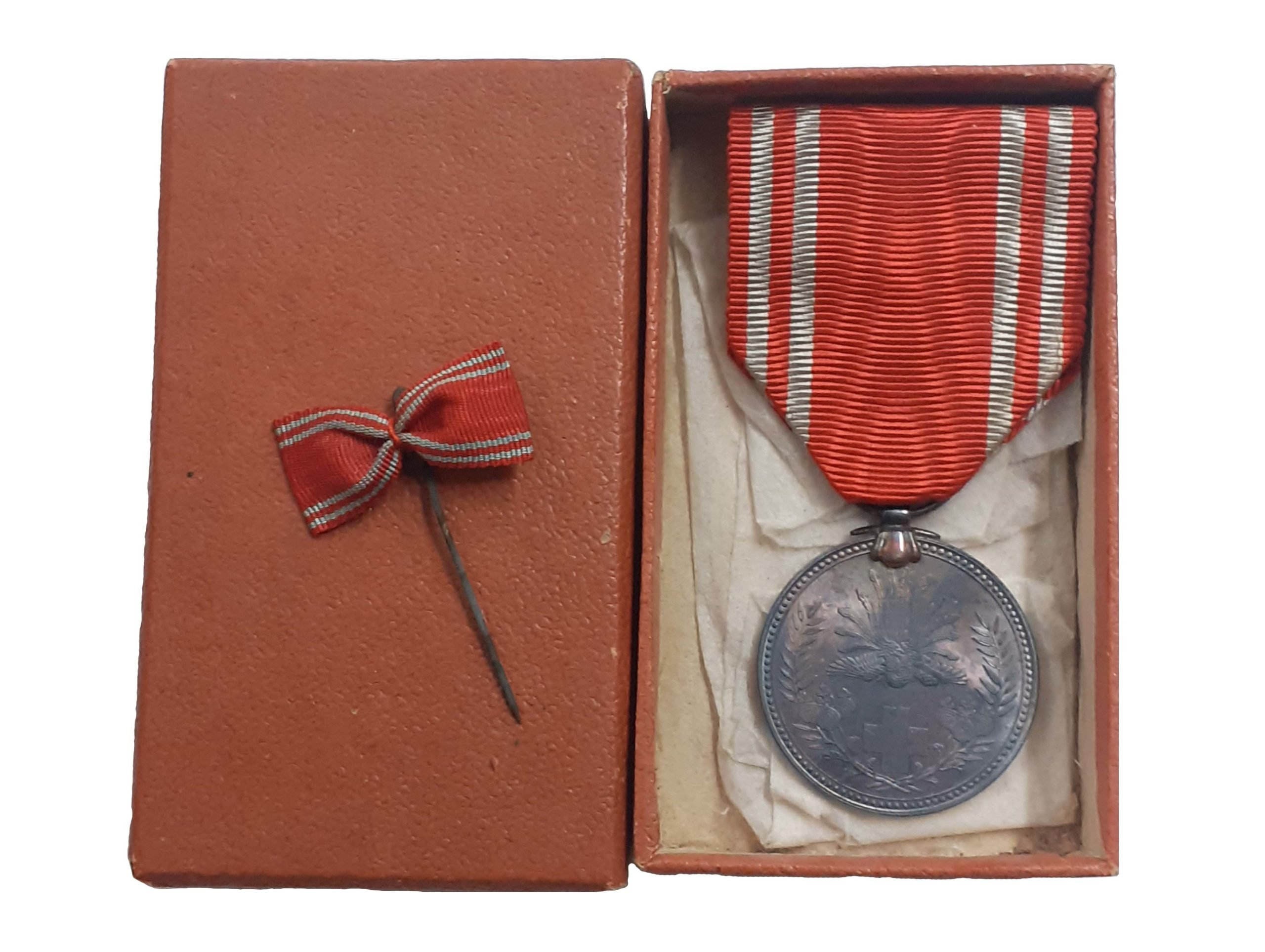 Japanese Red Cross Member Medal in Wartime Card case of Issue