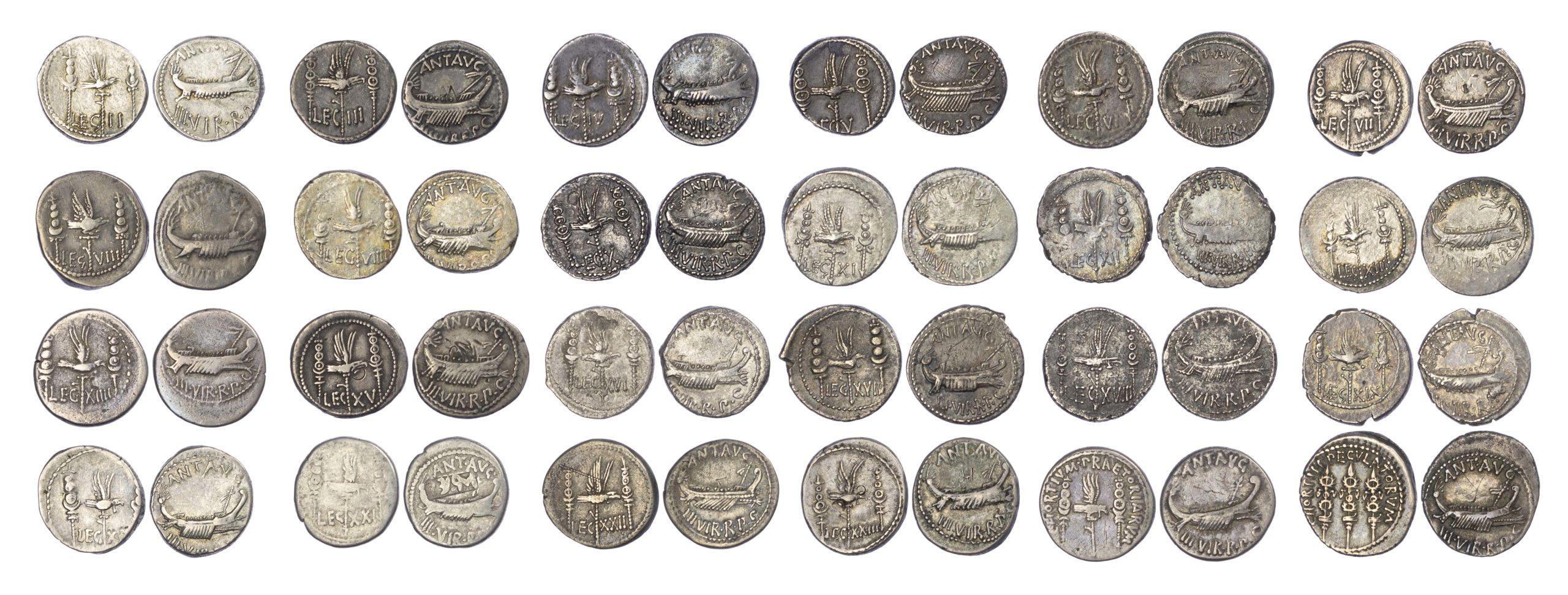 Mark Antony Legionary Denarius Collection (24 Coins)