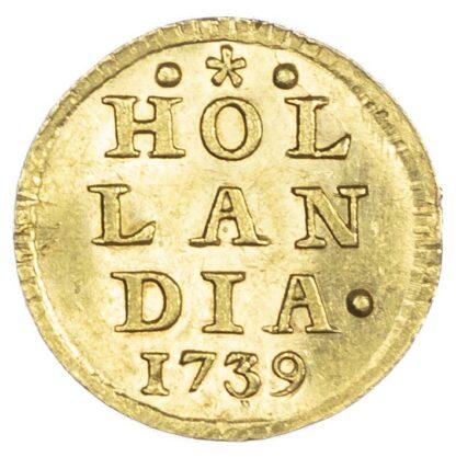 Netherlands, Holland, gold Bezemstuiver, 1739