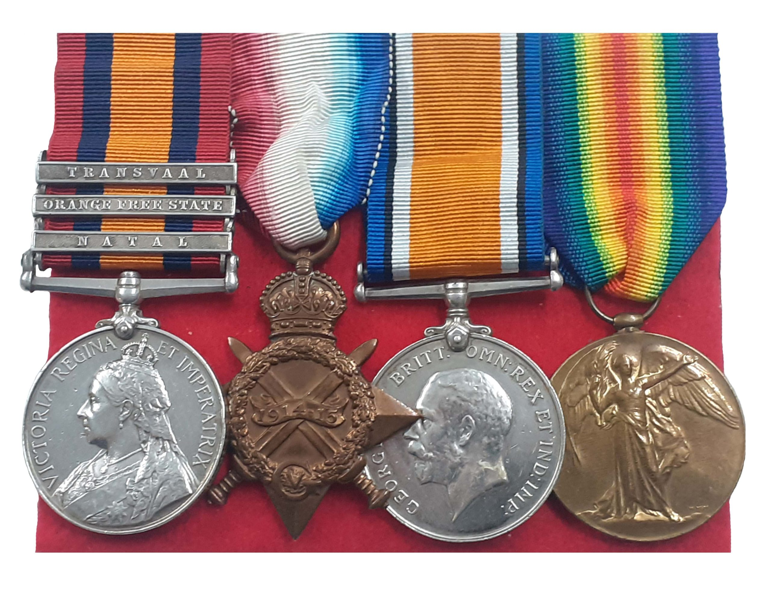 A Boer War Prisoner of War, Great War Group of 4 to Private William Smith