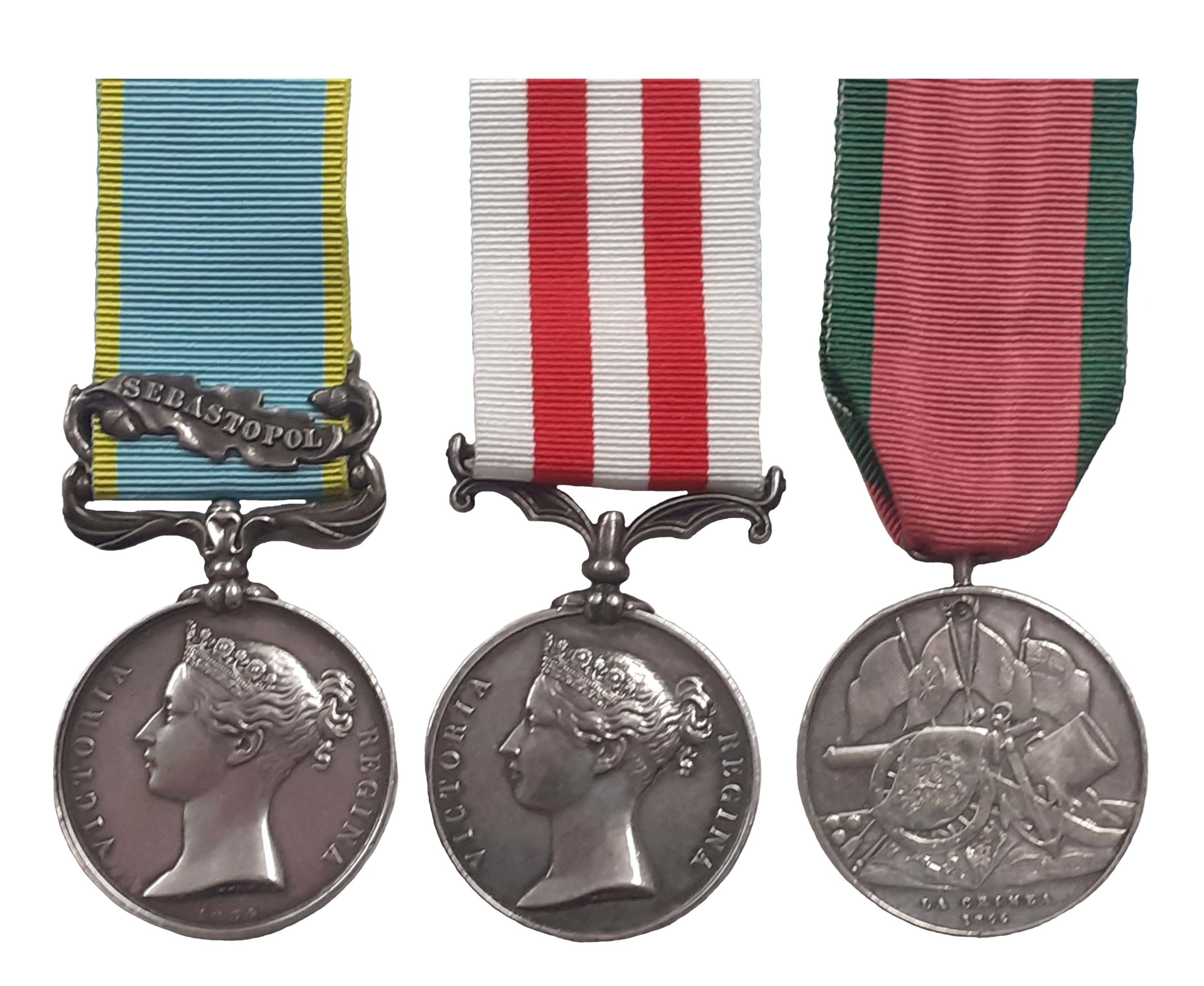 A Crimea and Indian Mutiny Group of 3 to Private James Gray