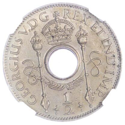 New Guinea, George V (1910-1936), copper-nickel Halfpenny, 1929 - rare