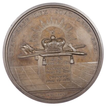 George IV, Coronation 1821, AE medal