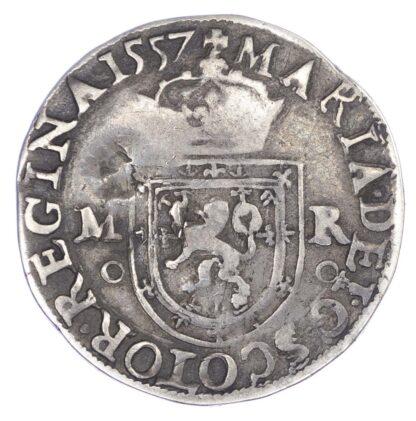 Mary (1542-1567), Testoon, countermarked, 1st period, type IIIa, 1557