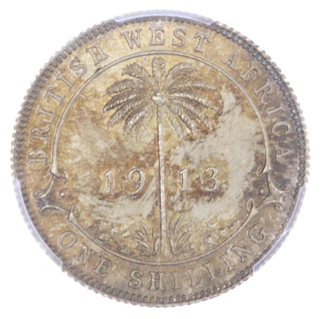 British West Africa, George V (1910-1936), silver Shilling, 1913