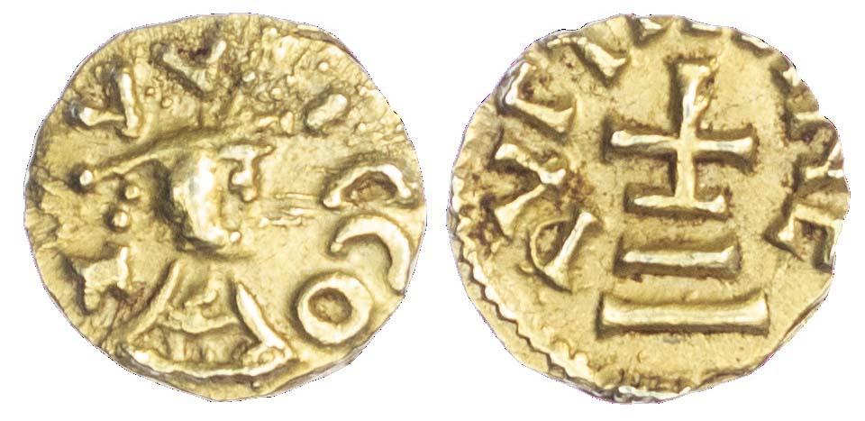 Merovingians, Quentovic (c. 620-640 AD), gold Tremissis - rare