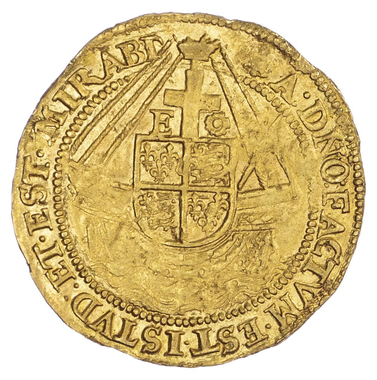 Elizabeth I (1558-1603), Gold Angel, Sixth issue, mintmark Bell