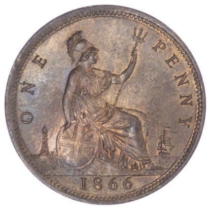 Victoria (1837-1901), Bronze Penny, 1866