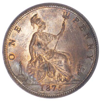 Victoria (1837-1901), Bronze Penny, 1875