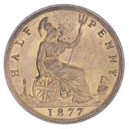 Victoria (1837-1901), Halfpenny, 1877
