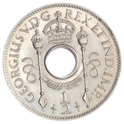 New Guinea, George V (1910-1936), copper-nickel Halfpenny, 1929