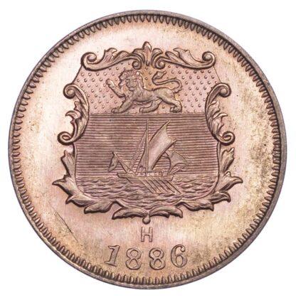 Malaysia, British North Borneo, copper Half Cent, 1886 H
