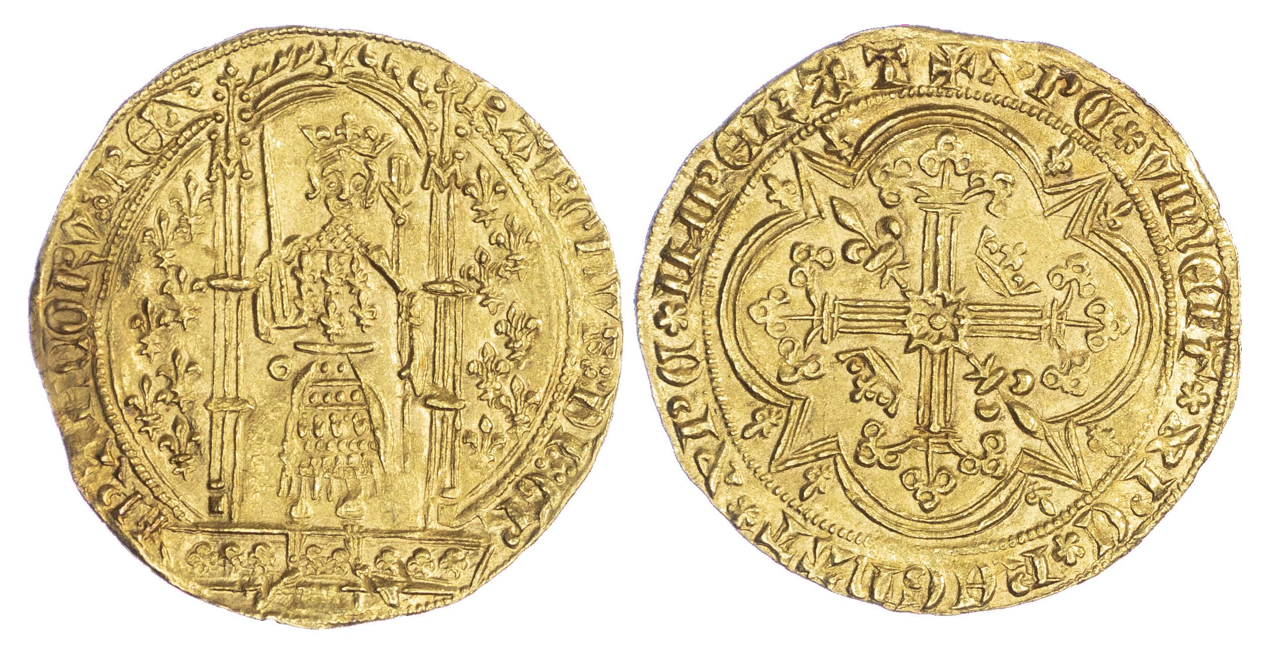 France, Charles V (the Wise) (1364-80 AD), gold Franc à pied, Paris