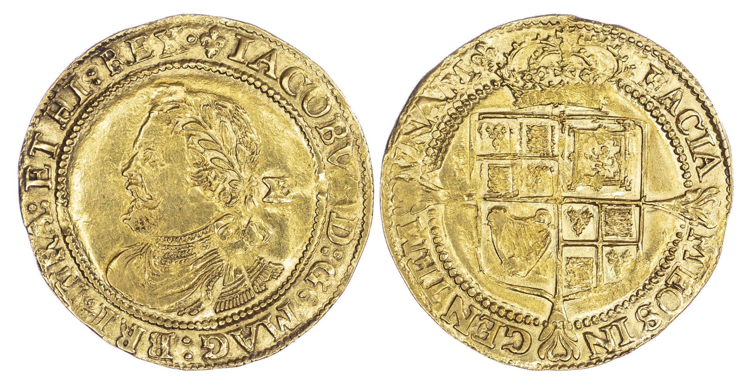 James I Laurel Third Coinage mm Lis Good Very Fine