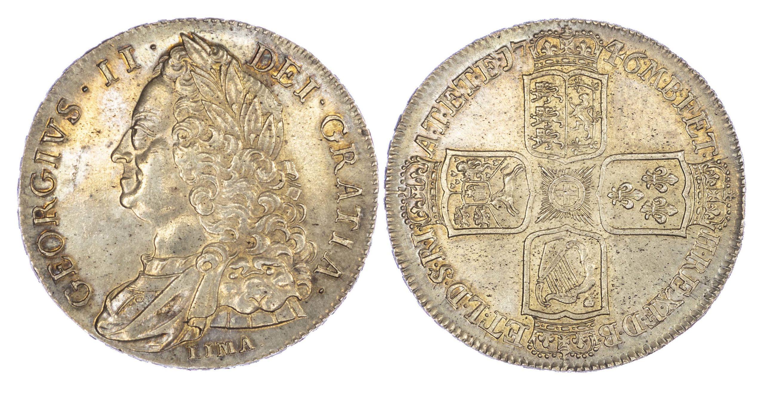 George II (1727-1760), Crown, 1746 LIMA